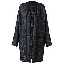 Buy Jigsaw Blanket Texture Tabard Coat, Navy Online at johnlewis.com