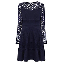 Buy Coast Merinem Lace Sleeve Dress, Navy Online at johnlewis.com
