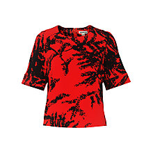 Buy Whistles Fern Print T-Shirt, Red Online at johnlewis.com