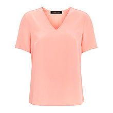 Buy Jaeger Silk Inverted Top, Dusty Pink Online at johnlewis.com