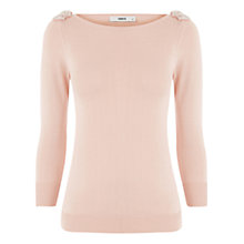 Buy Oasis Bow Top Jumper, Light Natural Online at johnlewis.com