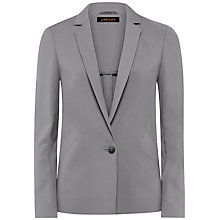 Buy Jaeger Slim Collar Jacket, Grey Online at johnlewis.com