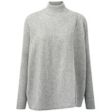 Buy Pure Collection Cashmere Wrap Front Poncho Jumper, Heather Grey Online at johnlewis.com