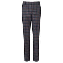 Buy Jigsaw Melange Check Trousers, Blue Online at johnlewis.com
