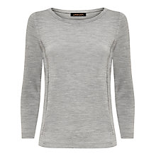 Buy Jaeger 3/4 Sleeved Gostwyck Sweater Jumper, Light Grey Melange Online at johnlewis.com