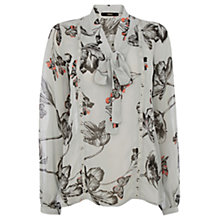 Buy Oasis Lindsey Fluro Pop Blouse, Multi/Grey Online at johnlewis.com