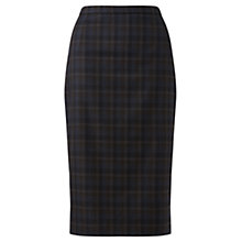 Buy Jigsaw Melange Check Pencil Skirt, Navy Online at johnlewis.com