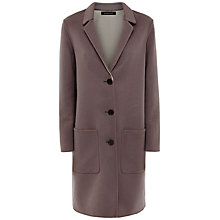 Buy Jaeger Double Faced Wool Coat, Warm Grey Online at johnlewis.com