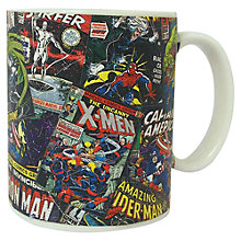 Buy Marvel Comic Book Mug, Blue Online at johnlewis.com
