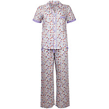 Buy Cyberjammies Aviary Bird Print Pyjama Set, White/Multi Online at johnlewis.com