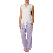 Buy Cyberjammies Placket Vest Top, White Online at johnlewis.com