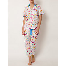 Buy Cyberjammies Tropical Botanics Pyjama Set, White/Multi Online at johnlewis.com