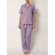 Buy Cyberjammies Folk Geo Pyjama Set, Blue Multi Online at johnlewis.com