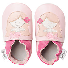 Buy Bobux Baby Leather Mermaid Motif Booties, Pink Online at johnlewis.com