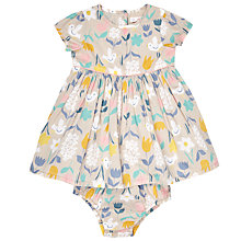 Buy John Lewis Baby Bird and Floral Print Dress and Knickers, Cream Online at johnlewis.com