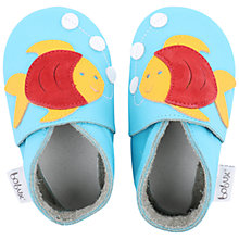 Buy Bobux Baby Leather Fish Motif Booties, Blue Online at johnlewis.com