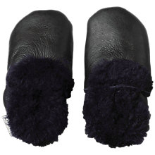 Buy Bobux Baby Leather Sheepskin Booties, Navy Online at johnlewis.com