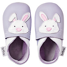 Buy Bobux Baby Leather Rabbit Booties, Purple Online at johnlewis.com