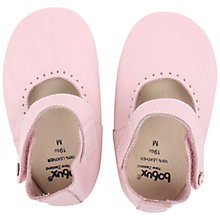 Buy Bobux Baby Leather Mary Jane Shoes, Pink Online at johnlewis.com