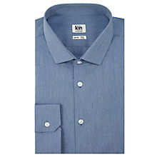 Buy Kin by John Lewis Solo Melange Poplin Slim Fit Shirt, Blue Online at johnlewis.com