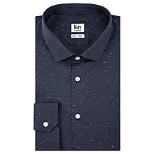 Buy Kin by John Lewis Oxford Fleck Cotton Slim Fit Shirt, Midnight Online at johnlewis.com
