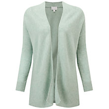 Buy Pure Collection Wadham Gassato Cashmere Ribbed Cardigan, Celadon Green Online at johnlewis.com