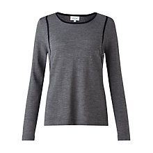 Buy Jigsaw Contrast Contour Jumper Online at johnlewis.com