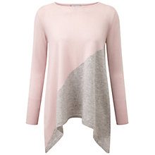 Buy Pure Collection Eastbury Cashmere Tunic, Oyster/Heather Dove Online at johnlewis.com