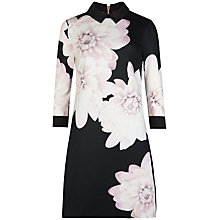 Buy Ted Baker Kida Monochrome Floral Shift Dress, Black Online at johnlewis.com