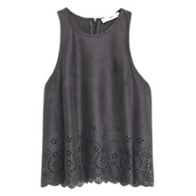 Buy Mango Openwork Top, Charcoal Online at johnlewis.com