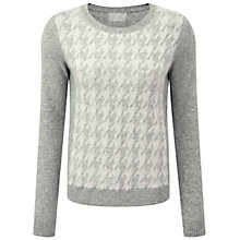 Buy Pure Collection Maguire Cashmere Jumper, Heather Grey/Soft White Online at johnlewis.com