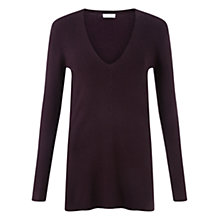 Buy Jigsaw Skinny Ribbed V-Neck Jumper Online at johnlewis.com