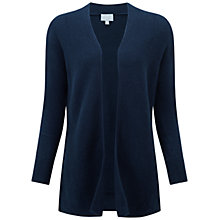 Buy Pure Collection Abbotsbury Gassato Cashmere Ribbed Cardigan, Navy Online at johnlewis.com