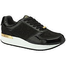 Buy Ted Baker Paryna Lace Up Trainers, Black Online at johnlewis.com
