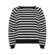 Buy Karen Millen Oversized Sleeve Stripe Jumper, Black / White Online at johnlewis.com