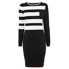 Buy Karen Millen Signature Stripe Dress, Black/White Online at johnlewis.com
