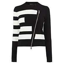 Buy Karen Millen Signature Block Stripe Jumper, Black/White Online at johnlewis.com