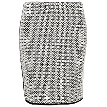 Buy Max Studio Knitted Jacquard Skirt, Black/White Online at johnlewis.com
