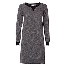 Buy Max Studio Twist Marled Yarn Dress, Black/Cream Online at johnlewis.com