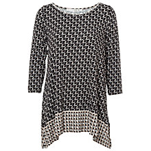 Buy Max Studio Printed Jersey Top, Black/Taupe Online at johnlewis.com