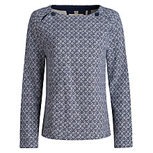 Buy Seasalt Sandpiper Sweatshirt, Woodcut Tile Fathom Online at johnlewis.com