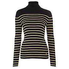 Buy Lauren Ralph Lauren Amanda Turtleneck Jumper, Black/Gold Online at johnlewis.com