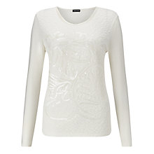 Buy Gerry Weber Sequin Quilted Top, Ivory Online at johnlewis.com