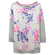 Buy Joules Kitty Floral Print Jumper, Soft Grey Marl Online at johnlewis.com
