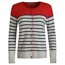 Buy Seasalt Carol Cardigan, Tri Breton Cinnabar Online at johnlewis.com