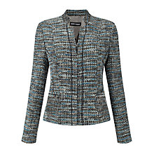 Buy Gerry Weber Zip Through Tweed Jacket, Black/Blue Online at johnlewis.com