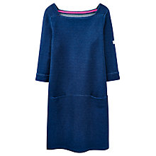 Buy Joules Pier Jersey Pocket Dress, Mid Chambray Online at johnlewis.com