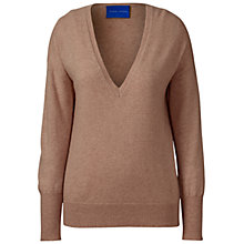 Buy Winser London Cashmere Deep V-Neck Jumper, Camel Online at johnlewis.com