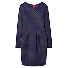 Buy Joules Thurwell Spot Jersey Dress, Navy Online at johnlewis.com