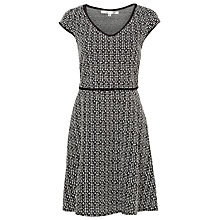 Buy Max Studio Knitted Jacquard Dress, Black/White Online at johnlewis.com